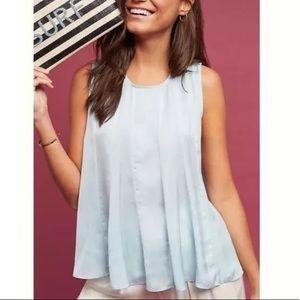 eri + ali baby blue swing tank blouse XS